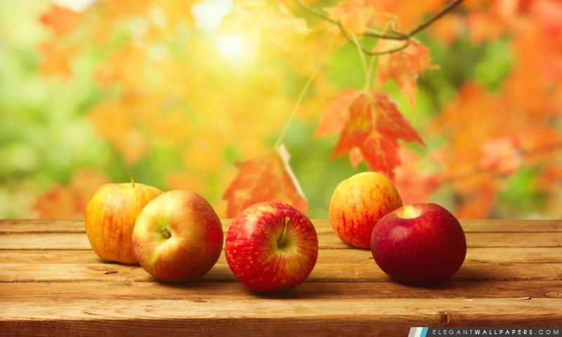 Pommes d'automne, Arrière-plans HD à télécharger