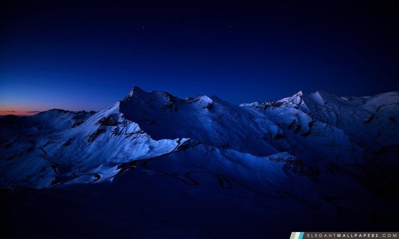 Snowy Mountain Peaks, Arrière-plans HD à télécharger