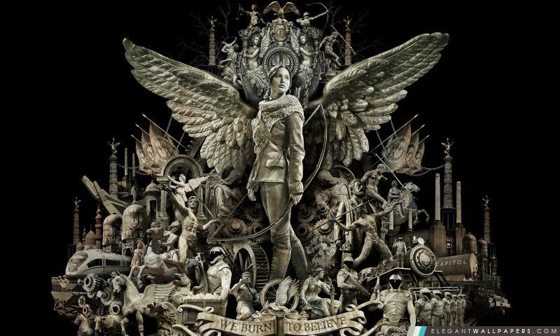 The Hunger Games Catching fond de feu, Arrière-plans HD à télécharger