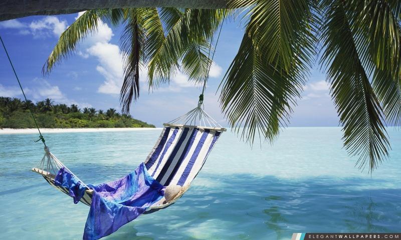 Hamac Maldives, Arrière-plans HD à télécharger