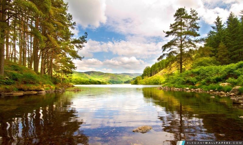 Mountain Lake, Summer, Arrière-plans HD à télécharger
