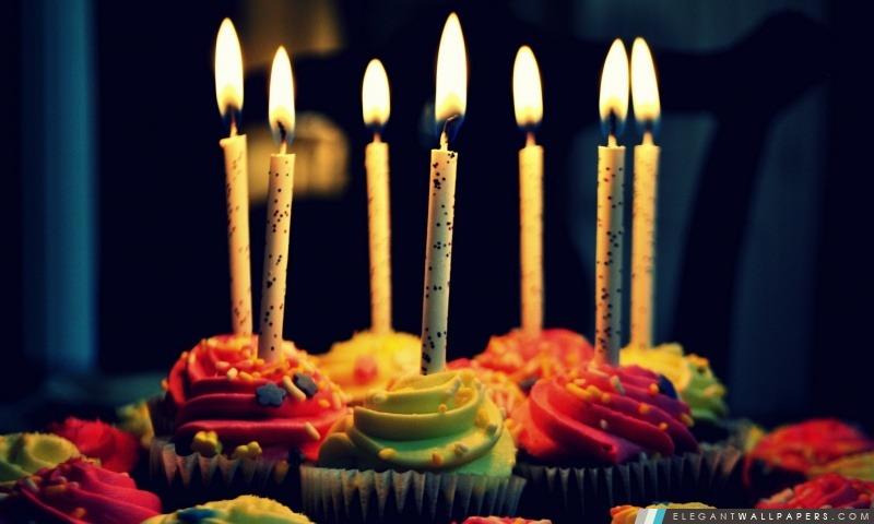 Muffin gâteau d'anniversaire, Arrière-plans HD à télécharger