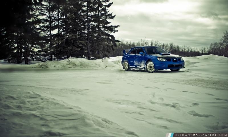 Subaru STI hiver, Arrière-plans HD à télécharger