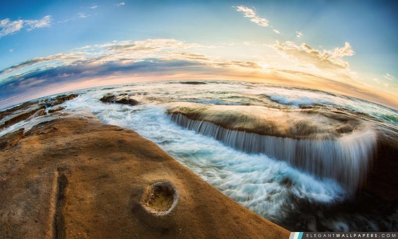 Flux océan, Arrière-plans HD à télécharger