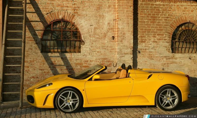 Ferrari F430 Spider Jaune Fond Décran Hd à Télécharger Elegant