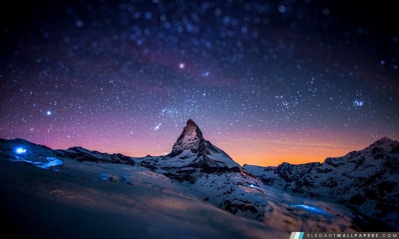 Cervin Night Sky. Fond D'écran HD à Télécharger