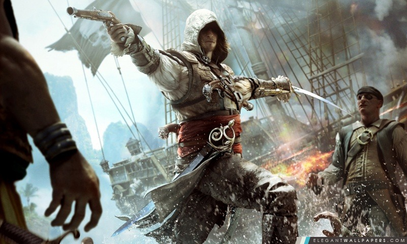 Assassins Creed IV Black Flag Edward Kenway, Arrière-plans HD à télécharger