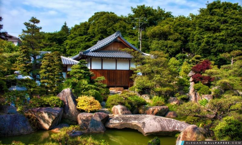 Jardin japonais, Arrière-plans HD à télécharger