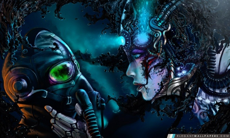 Cyberpunk Art numérique, Arrière-plans HD à télécharger