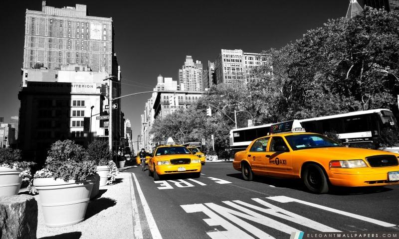 taxi de new york fond d 39 cran hd t l charger elegant wallpapers. Black Bedroom Furniture Sets. Home Design Ideas