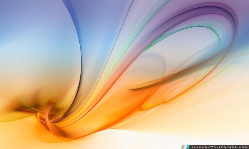 Aurora abstraite pourpre et orange, Arrière-plans HD à télécharger