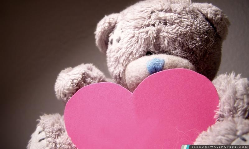 Saint Valentin Teddy Bear, Arrière-plans HD à télécharger
