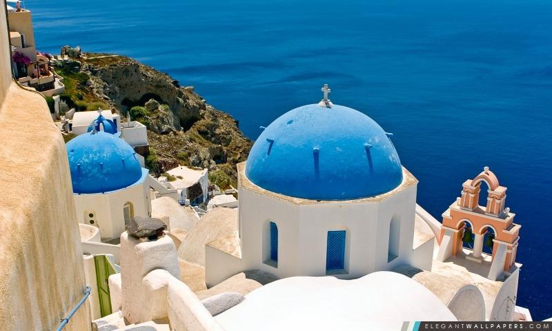 Oia, Santorin, Grèce, Arrière-plans HD à télécharger