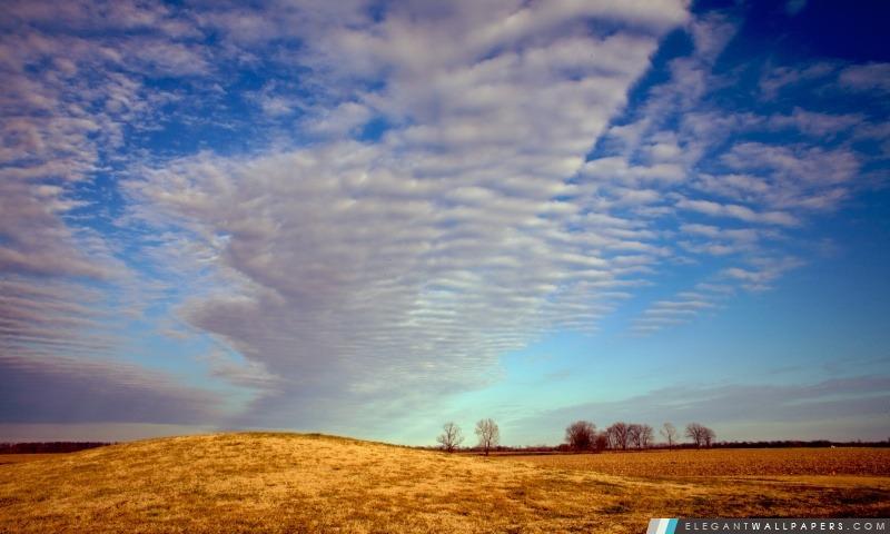 Coulds Plus de Balmoral Mound, l'autoroute 65, Tensas Parish, Louisiane, Arrière-plans HD à télécharger
