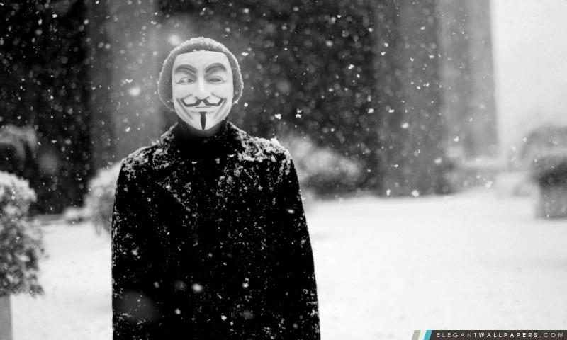 Masque Anonyme, Arrière-plans HD à télécharger
