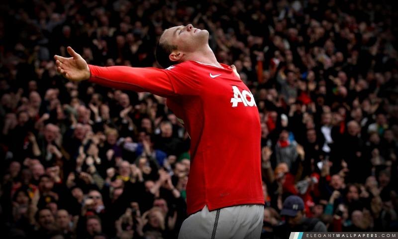 Wayne Rooney de Manchester United, Arrière-plans HD à télécharger