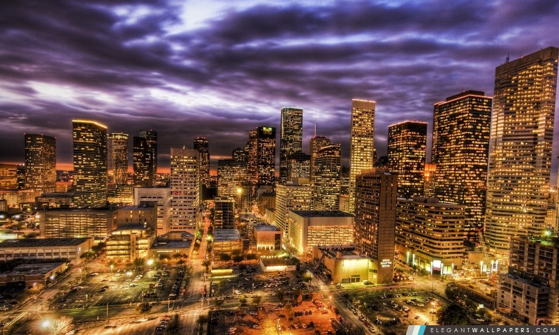Houston la nuit, Arrière-plans HD à télécharger