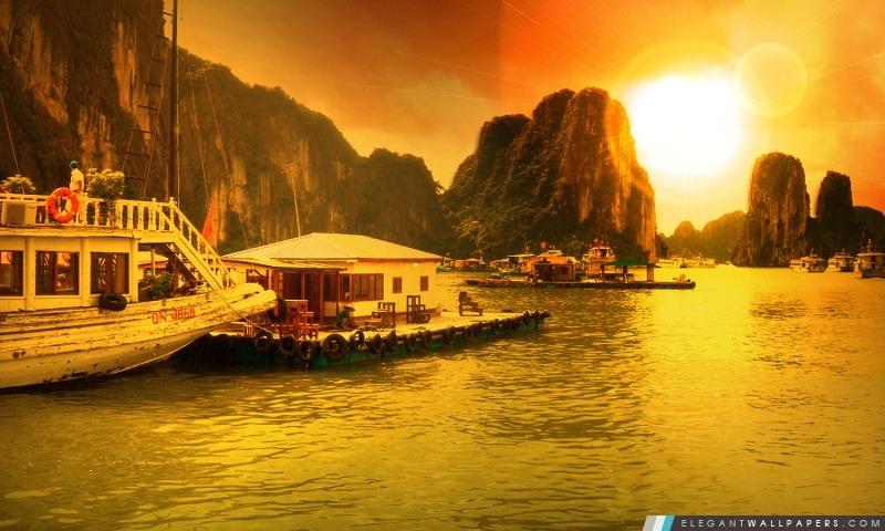 vietnam  baie d u0026 39 ha long  fond d u0026 39  u00e9cran hd  u00e0 t u00e9l u00e9charger