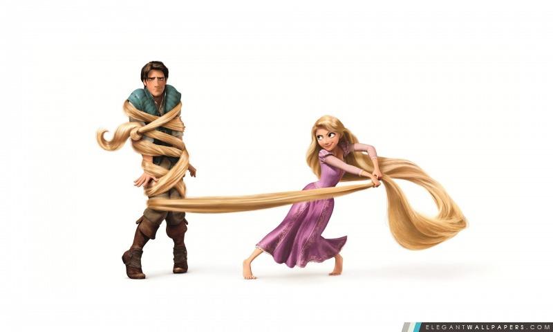 Tangled Rapunzel Et Flynn Ryder, Arrière-plans HD à télécharger