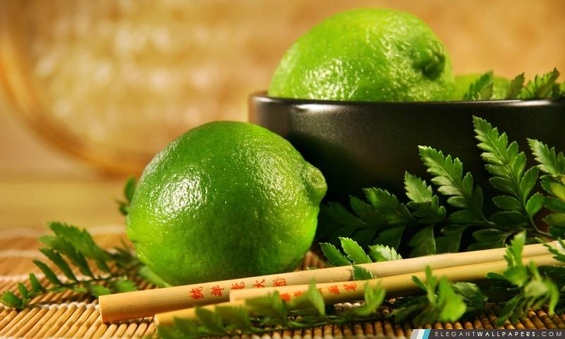 Lime Fruit, Arrière-plans HD à télécharger