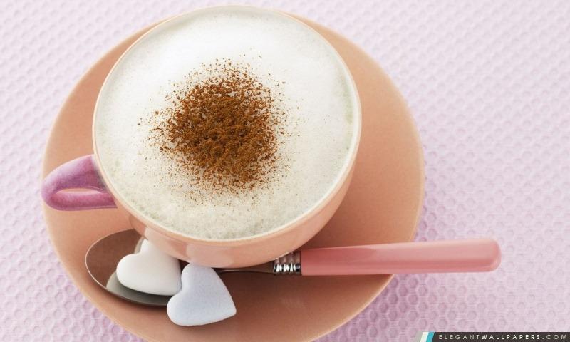 Cappuccino amour, Arrière-plans HD à télécharger