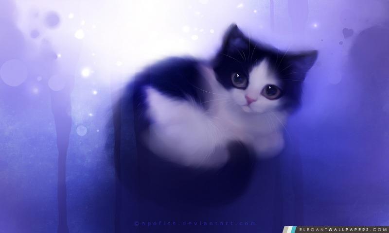 Peinture mignonne Kitty, Arrière-plans HD à télécharger
