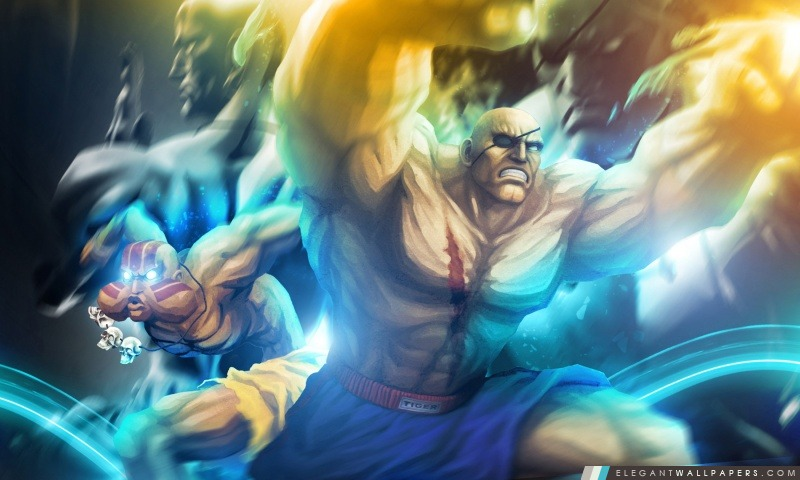 Street Fighter X Tekken – Sagat Dhalsim, Arrière-plans HD à télécharger