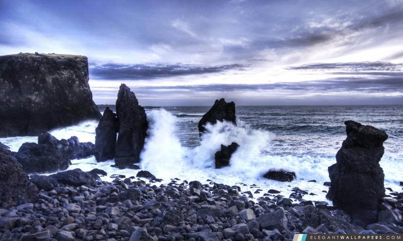 Islande Sea Shore, Arrière-plans HD à télécharger