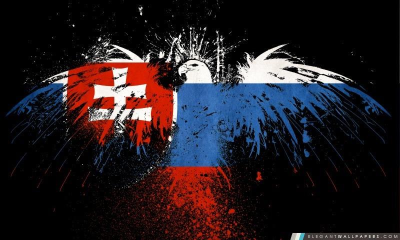 Drapeau grunge de la Slovaquie, Arrière-plans HD à télécharger