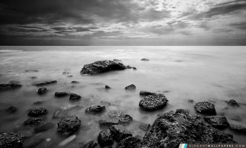 Mer En Noir Et Blanc. Fond d'écran HD à télécharger | Elegant Wallpapers
