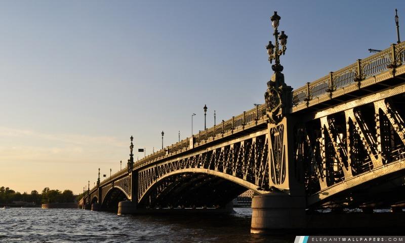 Pont à Saint-Pétersbourg, Arrière-plans HD à télécharger
