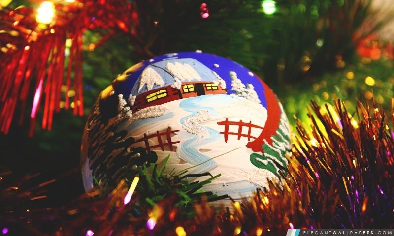 Boule de Noël peinte, Arrière-plans HD à télécharger