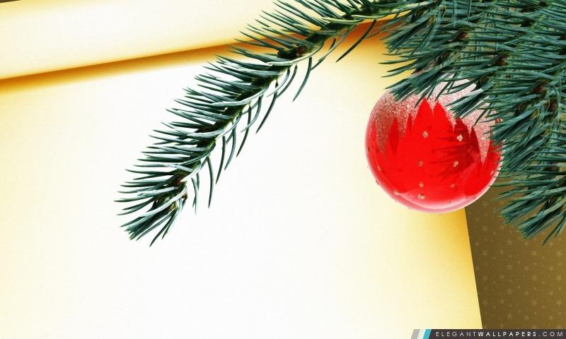 boule de no l rouge accroch sur la branche d 39 arbre fond d 39 cran hd t l charger elegant. Black Bedroom Furniture Sets. Home Design Ideas
