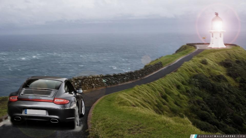 Phare Porsche. Fond D'écran HD à Télécharger