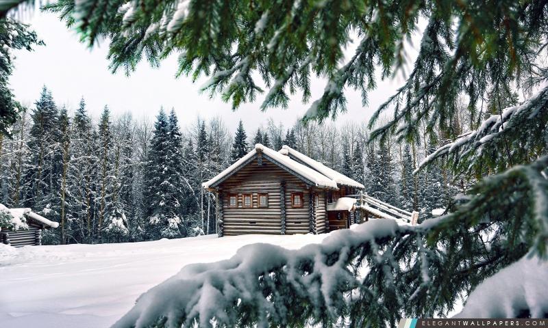 Mountain Retreat hiver, Arrière-plans HD à télécharger