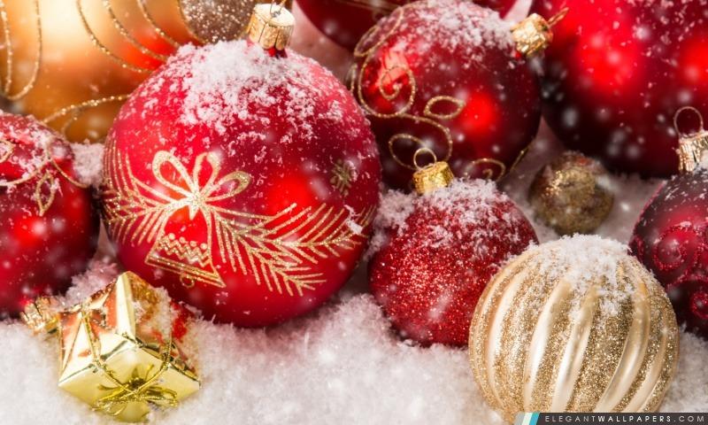 Décorations de Noël, Arrière-plans HD à télécharger