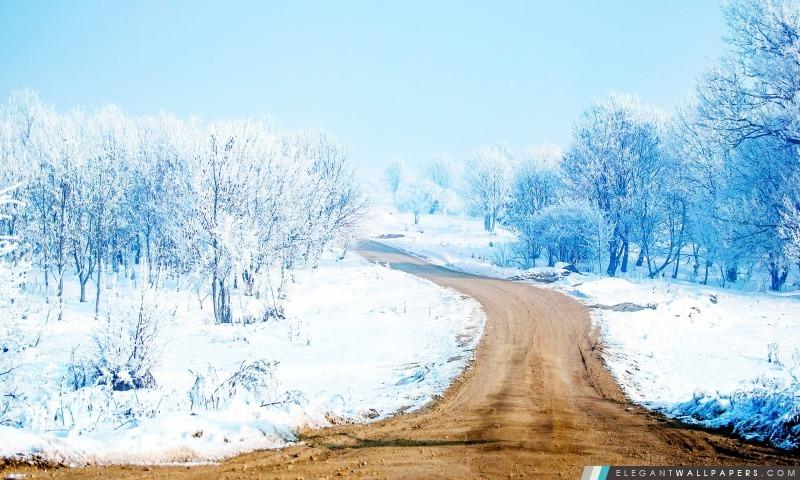 Chemin de neige, Arrière-plans HD à télécharger