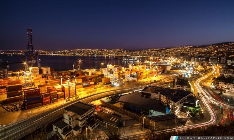 Valparaiso Noche HD, Arrière-plans HD à télécharger