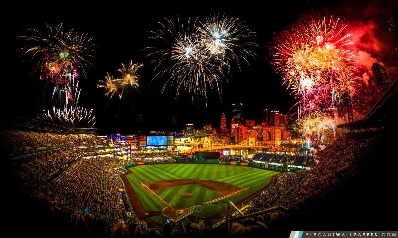 PNC Park feux d'artifice, Arrière-plans HD à télécharger