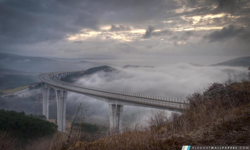 Route dans les nuages, Arrière-plans HD à télécharger