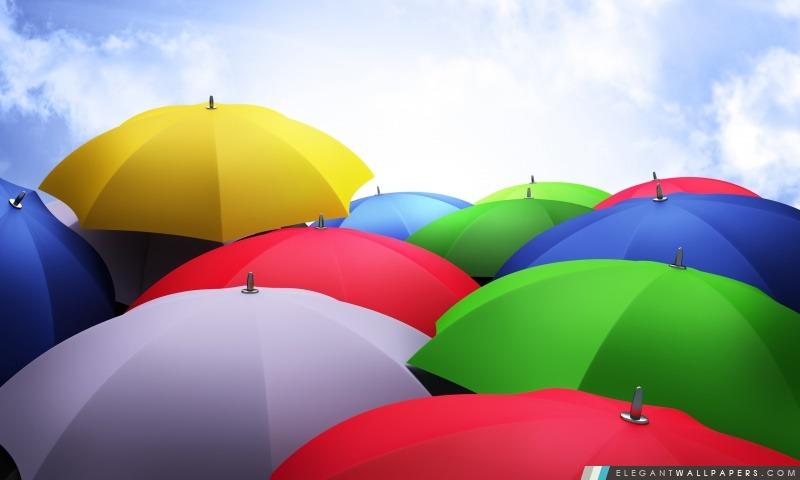 Parapluies colorés, Arrière-plans HD à télécharger