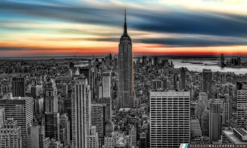 Empire State Building BW Modifier, Arrière-plans HD à télécharger