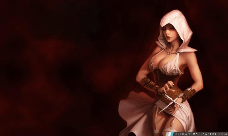 Assassins Creed fille, Arrière-plans HD à télécharger