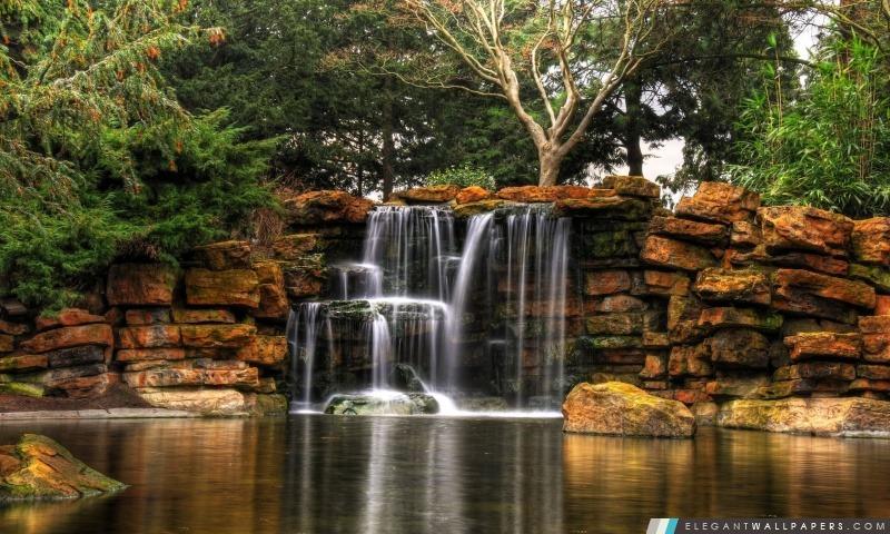 Belle petite cascade, Arrière-plans HD à télécharger