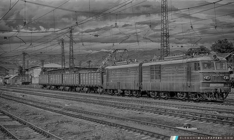 Arménie, Gyumri, Train, Arrière-plans HD à télécharger