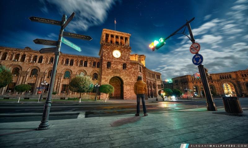 Arménie, Erevan, Hraparak, Hayk Barseghyans, Arrière-plans HD à télécharger