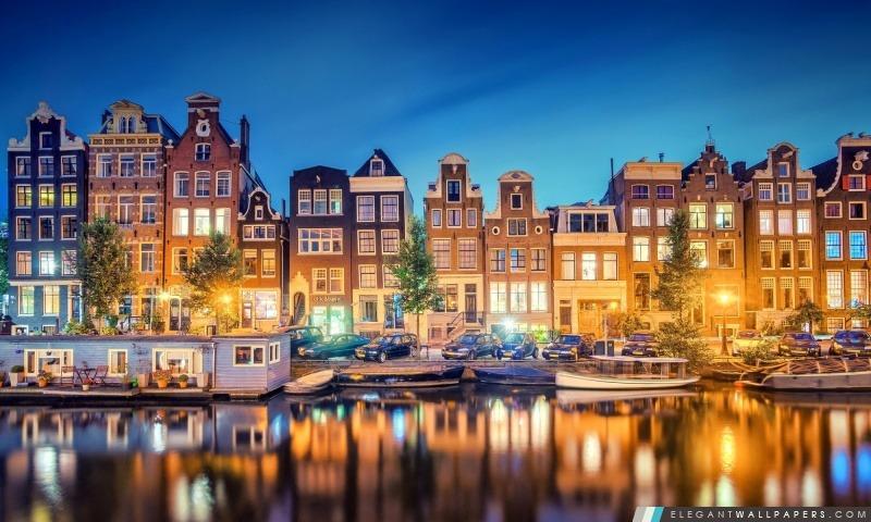 Amsterdam Lumières, Arrière-plans HD à télécharger