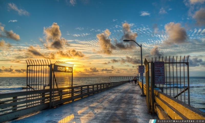 Ocean Beach Pier, Arrière-plans HD à télécharger