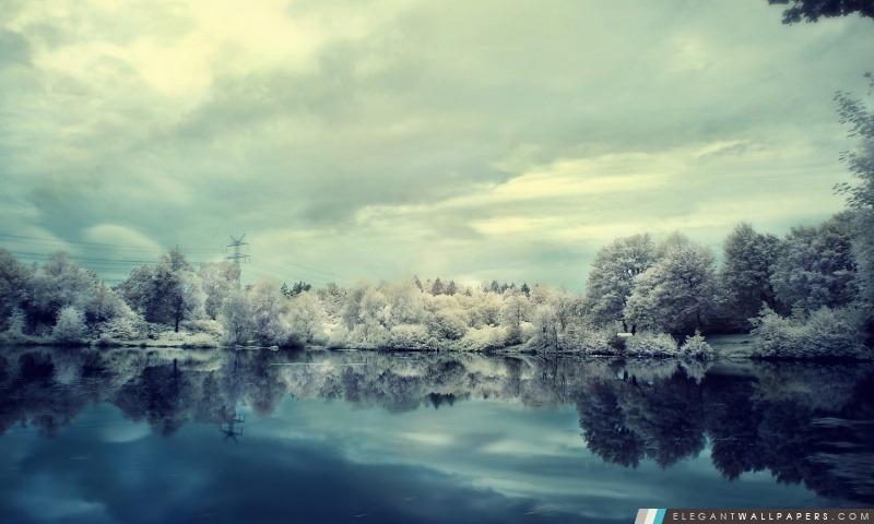 Beau paysage Frozen, Arrière-plans HD à télécharger