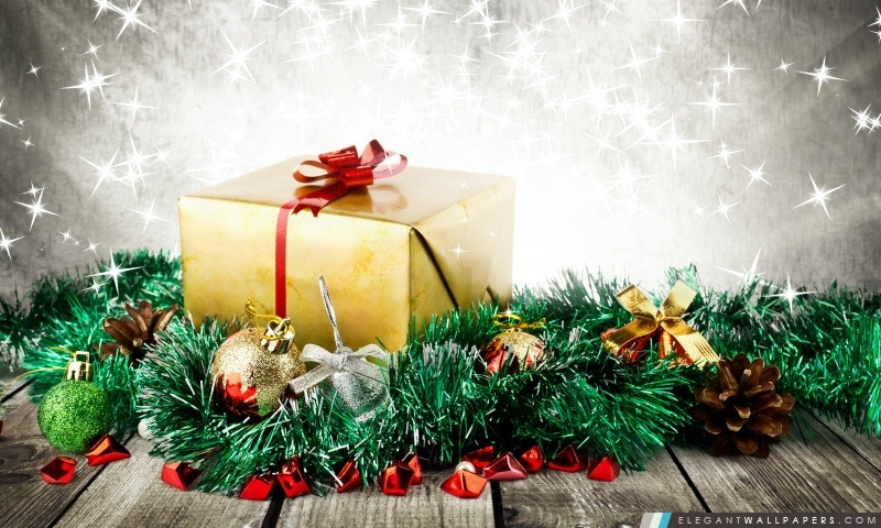 Enveloppé Cadeau de Noël, Arrière-plans HD à télécharger